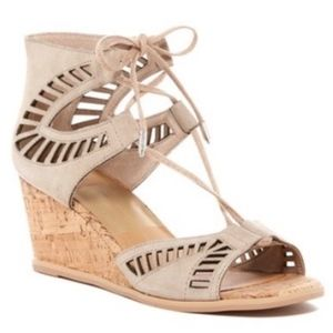 Dolce Vita Lina Lace Wedge Sandals
